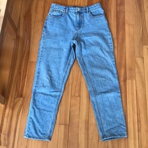 High Waisted Non-Stretch Jeans